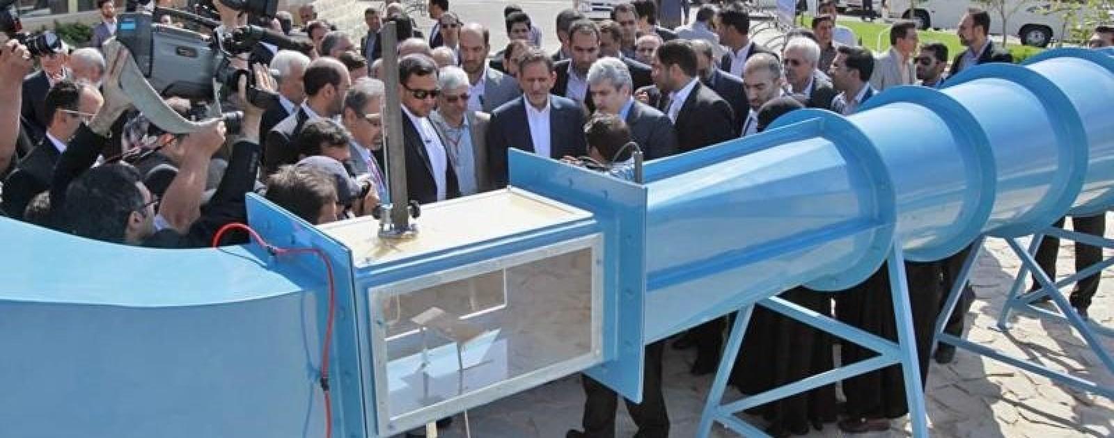 بازدید معاون اول رییس جمهور، جناب آقای دکتر جهانگیری، از تونل باد ساخت رادمان صنعت